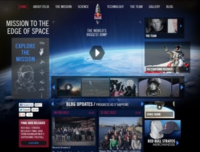 2 Red Bull Stratos web site